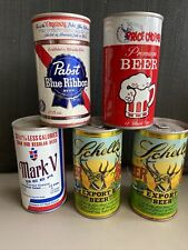 New listing 5 piece lot Steel Beer Cans Pabst Mark V Schell's Price Chopper