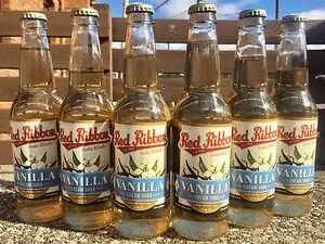 Red Ribbon Vanilla Cream Soda 6 BOTTLES - Natrona Bottling Co. - Pittsburgh PA