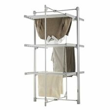 3 TIER ELECTRIC CLOTHES AIRER HEATED 24 RAILS DRYER FOLDING DELUXE PORTABLE NEW