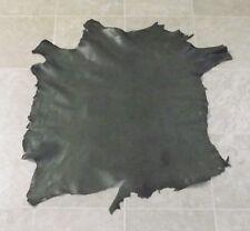 (TYA7147-1) Hide of Earth Green Lambskin Leather Hide Skin