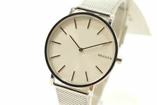 Skagen SKW6442 Hagen Slim White Dial Silver Tone Men's Mesh Watch
