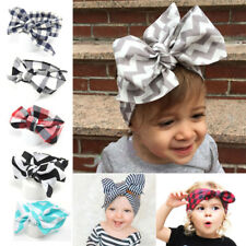 Baby Toddler Kids Girl Large Bow Headband Hair Band Headwear Head Wrap Cotton