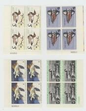 Duck Stamps: US RW42 - RW45, four plate blocks, MNH VF cat. $260