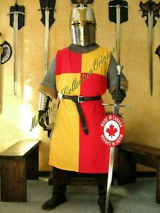 Medieval Cotton RED&YELLOW Color Reenactment Tunic