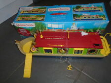 SYLVANIAN FAMILIES CANAL BOAT / BARGE BOXED VERY GOOD CONDITION