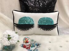 Aqua green Lash Pillow Eyelash Extension Salon Decor Makeup ArtistGift Lash
