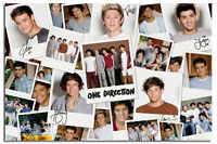 One Direction Polaroids Large Wall Poster New - Laminated Available