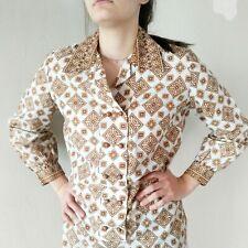 Vintage 70s Secretary Dress Trends by Jerrie Lurie Geometric Block Print Shift