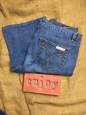 Calvin Klein Womens Jeans Flare Fit Dark Wash Womens Size 32/14 Five Pockets