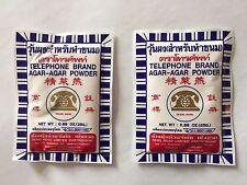 Agar Agar Powder - Telephone Brand - 2 pack - 50g Total - ships from USA