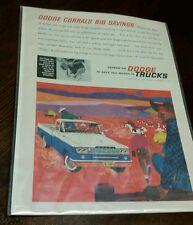 """Dodge Corrals Big Savings"" 1960 D-100 Dodge Sweptline Pickup Ad"