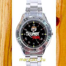 NEW RARE Triumph Tiger CUSTOM CASUAL CHROME MEN'S WATCH WRISTWATCHES