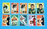 LOT OF ( 20 ) 1955 BOWMAN HIGH GRADE FOOTBALL CARDS EX-MT