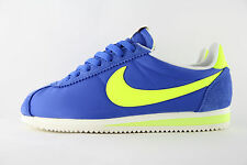 New Mens Nike Classic Cortez Nylon OG AW Blue Volt Trainers UK 7 BNIB 844855 470