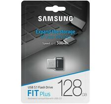 Samsung 128GB FIT Plus USB3.1 Flash Drive, up to 300 MB/s, Compact Fit, Plug in
