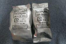 Lexmark 1 Color Ink Cartridge #43XL 1 Black Ink Cartridge #44 XL New Sealed