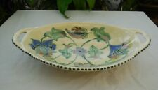 Vintage Honiton Pottery Jacobean Handled Dish Bowl