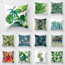 Pillow Case Africa Tropical Plant Print Cushion Cover Linen Throw Car Sofa Decor