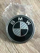 BMW 82mm Carbon Bonnet Badge 1 3 5 6 M Series - New!
