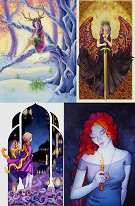 Fantasy GODDESS Angel FAIRY PAGAN Peace CARD Art