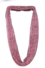 Thick Knit Burgundy & Black Infinity Shape Mature Colours Keep Warm Scarf (S84)
