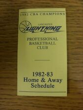 1982/1983 scheda di impianti: BASKET-LANCASTER Lightning (Pieghevole Stile). qualsiasi F