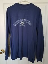 MIAMI DOLPHINS Men's Shirt Pullover Apparel Blue Navy Football NFL Size Large