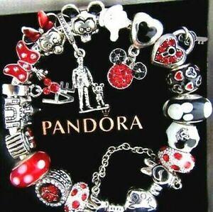 Disney Silver Fashion Charm Bracelet With Charms Bracelets For Sale Ebay