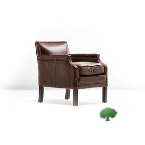 "30"" Long x 24"" x 30""  Arm chair vintage cigar brown leather handmade beautiful"