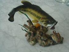 """Vtg """"Sudden Strike"""" by George Kruth Danbury Mint Fish Sculpture"""