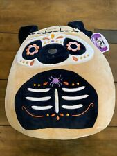 """Squishmallows Prince Pug 12"""" Sugar Skull Day of the Dead New with Tags Plush"""