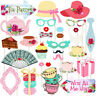 Tea Party Photo Booth Props Stick Funny Supplies Wedding Bachelorette Engagement