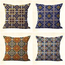 US SELLER, 4pcs patio furniture bulk lot cushion covers Mexican Spanish talavera