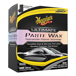 Meguiar's Ultimate Paste Wax Long-Lasting Easy to Use Synthetic Wax G210608 8 oz