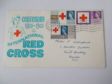 1963 Red Cross Illustrated First Day Cover - East Finchley Cds & Wavy Cat £45