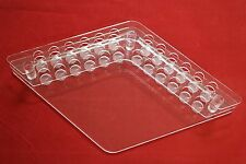 Crystal Clear Lip Gloss Lipstick Holder Organizer 12 Of Each Stand (Transparent)