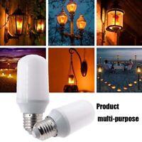 E27 LED Flame Effect Fire Light Bulbs Atmosphere Lighting Lamp Christmas Decor