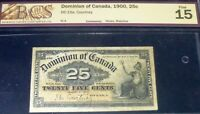 1900 25 CENTS DOMINION OF CANADA