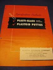 Plastic Products Co. 1950's Catalog Asbestos Furnace Cement & Boiler Putty