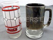Frosted Collectors Coca Cola Glass & Harley Davidson Cafe Las Vegas Tinted Mug
