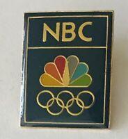 NBC Television Pin Badge Olympics Sponsor Rare Vintage (H1)