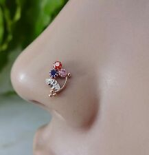 Indian Nose Ring Cartilage Nose Jewelry Brass Stone Crock Screw Nose Stud Pin