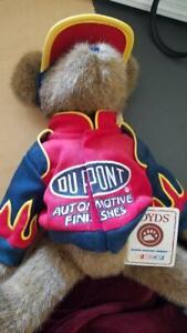 "2004 BOYDS BEARS NASCAR # 24 Jeff Gordon Dupont  16"" PLUSH BEAR  Race Fans ON"
