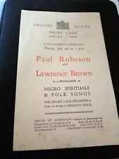 More details for vintage paul robeson 1920s hand bill theatre royal drury lane sa34