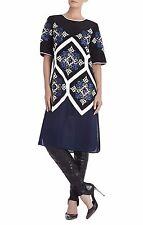 NEW 998 BCBG MAXAZRIA RUNAY SEQUIN BLUE WHITE DRESS GOWN XS 0 2 SILK ELENA