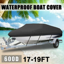 Heavy Duty Boat Cover Waterproof 600d 17-19ft Speedboat V-hull Marine Protector