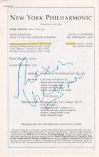 MAXIM VENGEROV Violinist signed program, New York Philharmonic, 1997