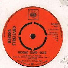 """Vinilo Barbra Streisand (7"""") segunda mano Rosa/tocó Me-CBS-202025-U-Ex/en muy buena condición"""