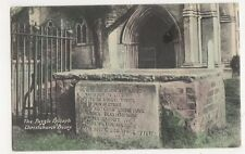 The Puzzle Epitaph Christchurch Priory, J. Welch Postcard, M030
