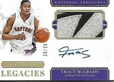 2018-19 Treasures Lasting Legacies 25/25 Tracy McGrady 2 Color Logo Patch Auto